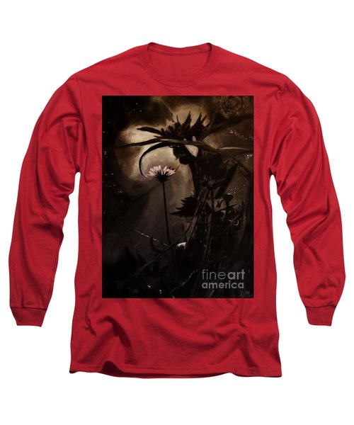 Long Sleeve T-Shirt featuring the painting Nightflower by Vanessa Palomino
