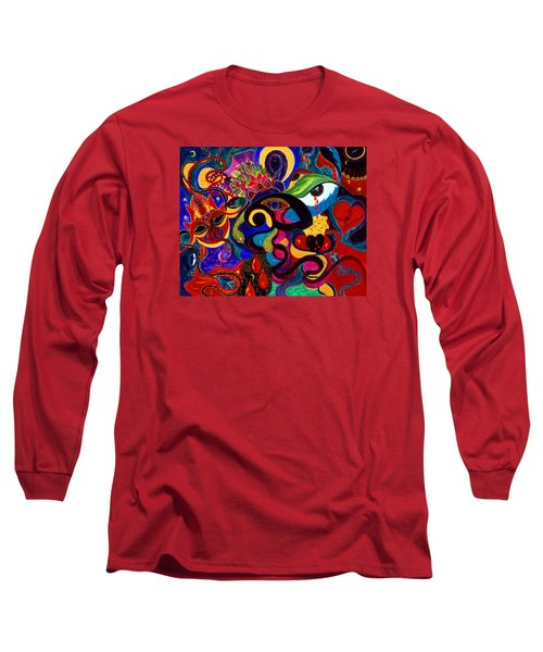 Long Sleeve T-Shirt featuring the painting Tears Of Blood by Marina Petro