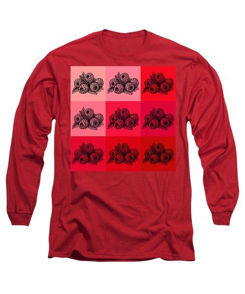 Nine Shades Of Raspberries Long Sleeve T-Shirt