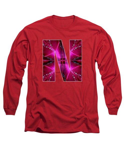 Nnn Nn N  Alpha Art On Shirts Alphabets Initials   Shirts Jersey T-shirts V-neck By Navinjoshi Long Sleeve T-Shirt