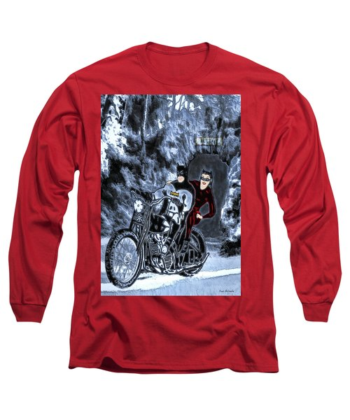 No Cat Woman..this Is Not A Date Long Sleeve T-Shirt by Pennie McCracken