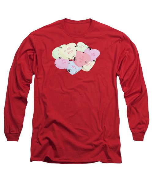 No Love Here Long Sleeve T-Shirt by Priscilla Wolfe