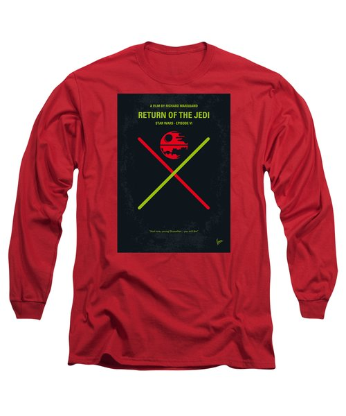 No156 My Star Wars Episode Vi Return Of The Jedi Minimal Movie Poster Long Sleeve T-Shirt by Chungkong Art