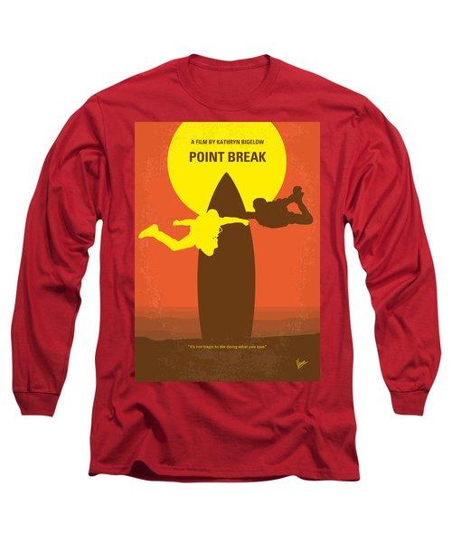 No455 My Point Break Minimal Movie Poster Long Sleeve T-Shirt