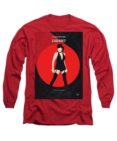 Long Sleeve T-Shirt featuring the digital art No742 My Cabaret Minimal Movie Poster by Chungkong Art