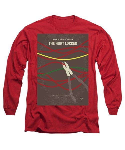 Long Sleeve T-Shirt featuring the digital art No746 My The Hurt Locker Minimal Movie Poster by Chungkong Art