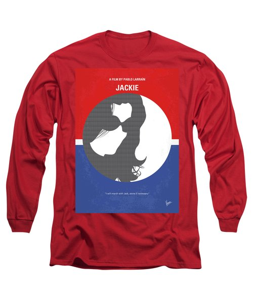 Long Sleeve T-Shirt featuring the digital art No755 My Jackie Minimal Movie Poster by Chungkong Art