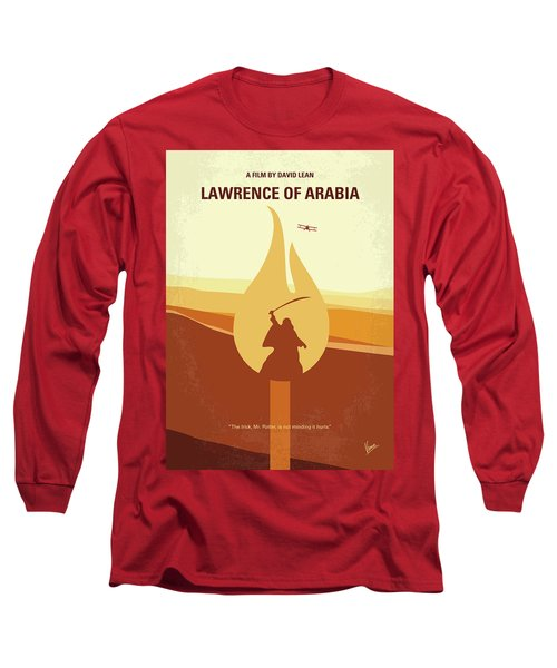 Long Sleeve T-Shirt featuring the digital art No772 My Lawrence Of Arabia Minimal Movie Poster by Chungkong Art