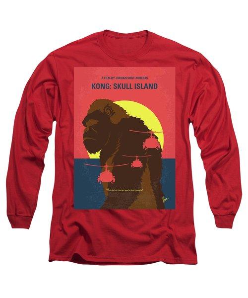 No799 My Skull Island Minimal Movie Poster Long Sleeve T-Shirt