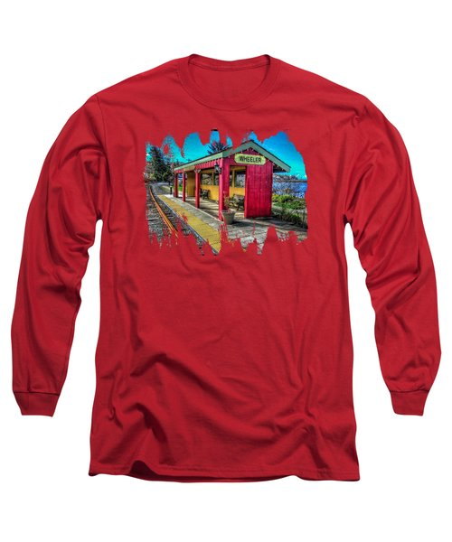 Long Sleeve T-Shirt featuring the photograph Norm Laknes Train Station by Thom Zehrfeld