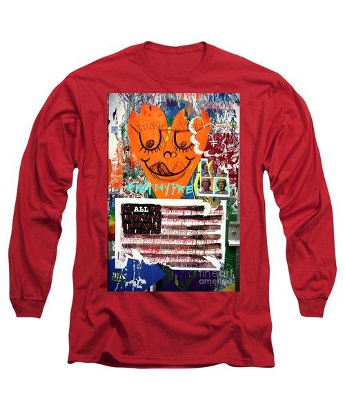 Not My President Long Sleeve T-Shirt by John Rizzuto