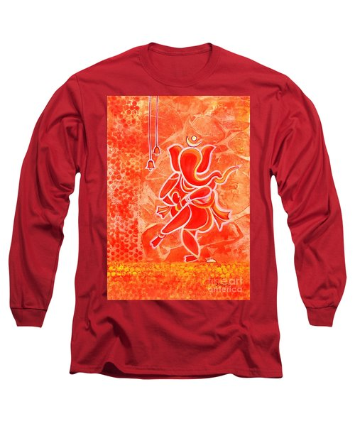 Nritya Ganesha- Dancing God Long Sleeve T-Shirt