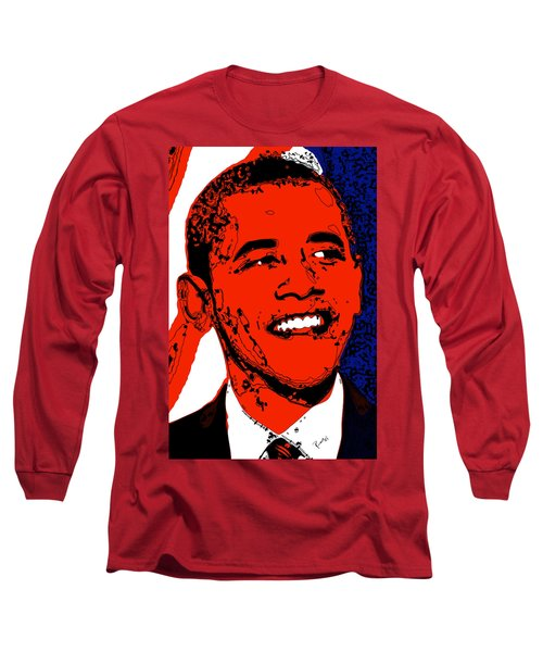 Obama Hope Long Sleeve T-Shirt by Rabi Khan