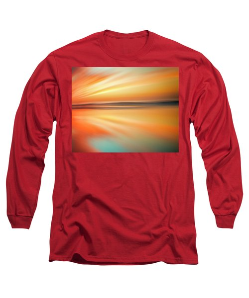 Ocean Beach Sunset Abstract Long Sleeve T-Shirt
