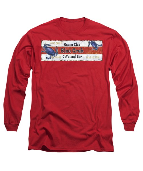 Ocean Club Cafe Long Sleeve T-Shirt by Debbie DeWitt