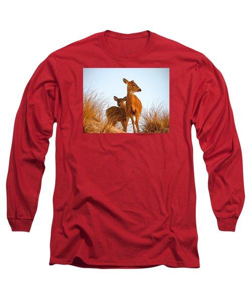 Ocean Deer Long Sleeve T-Shirt by  Newwwman