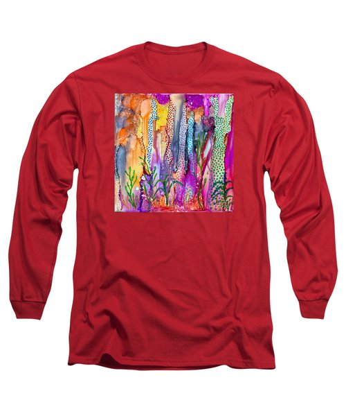 Ocean Floor Long Sleeve T-Shirt by Alene Sirott-Cope