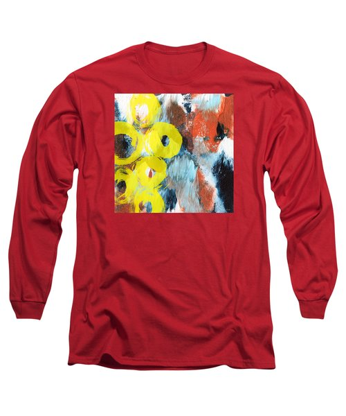 October- Abstract Art By Linda Woods Long Sleeve T-Shirt