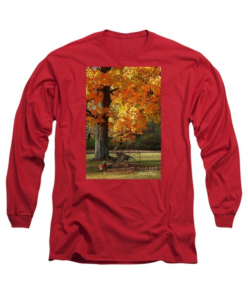 Long Sleeve T-Shirt featuring the drawing October Day by Diane E Berry