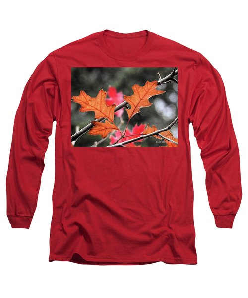 Long Sleeve T-Shirt featuring the photograph October by Peggy Hughes