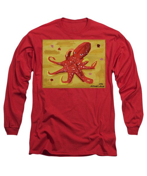 Octopus Long Sleeve T-Shirt by Anthony LaRocca