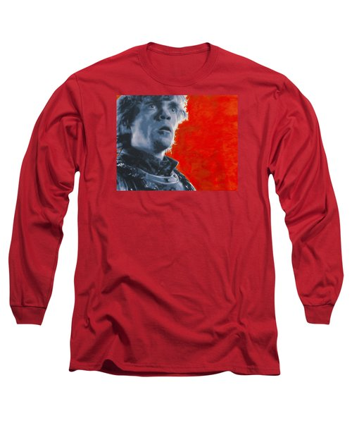 Long Sleeve T-Shirt featuring the painting Tyrion Lannister by Luis Ludzska