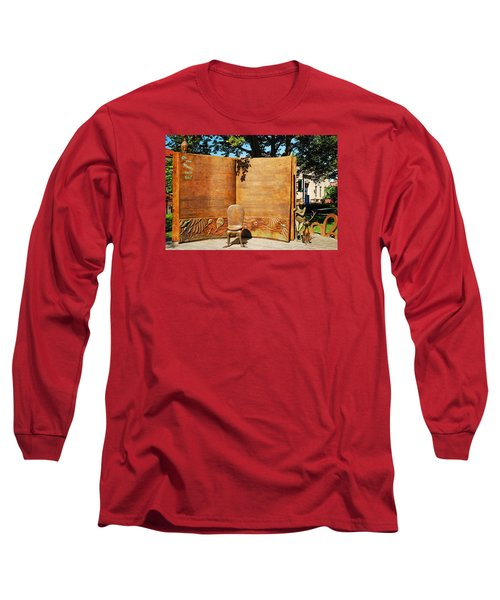 Oh The Places Youll Go Dr Seuss Memorial Garden Long Sleeve T-Shirt by James Kirkikis