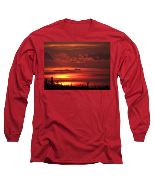 Oklahoma Sky At Daybreak  Long Sleeve T-Shirt