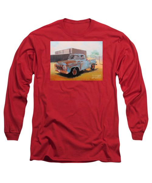 Old Blue Ford Truck Long Sleeve T-Shirt