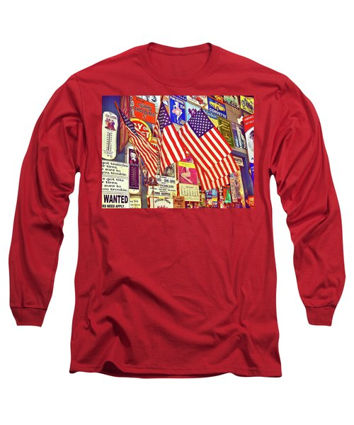 Long Sleeve T-Shirt featuring the photograph Old Glory by Joan Reese