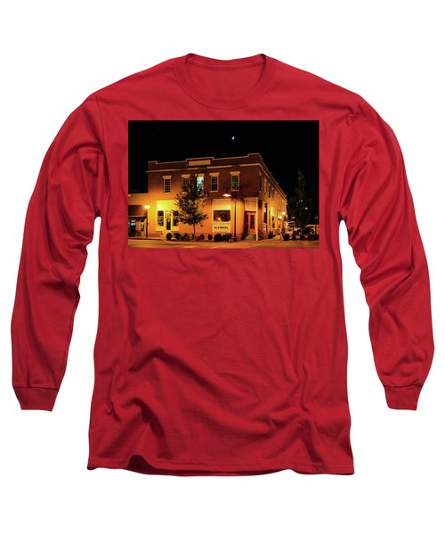 Old Hotel Moonlight Long Sleeve T-Shirt by Dale R Carlson