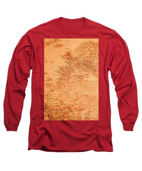 Old Maritime Map Long Sleeve T-Shirt