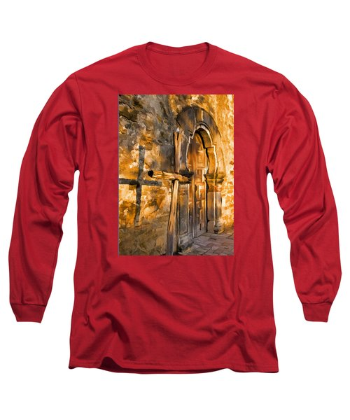 Long Sleeve T-Shirt featuring the photograph Old Mission Cross by Dennis Cox WorldViews