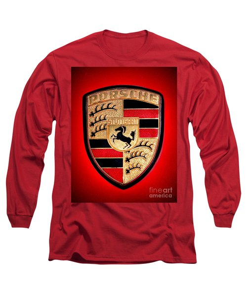Old Porsche Badge Long Sleeve T-Shirt