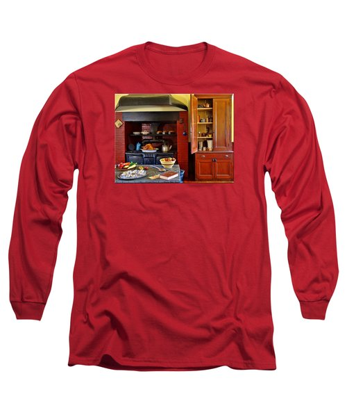 Old Time Kitchen Long Sleeve T-Shirt by Mikki Cucuzzo
