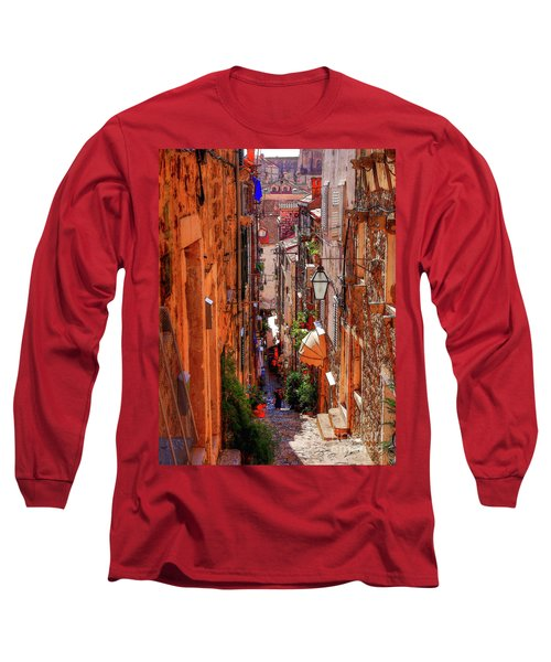 Old Town Dubrovniks Inner Passages Long Sleeve T-Shirt