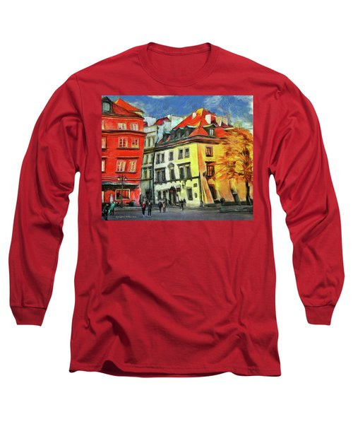 Old Town In Warsaw # 27 Long Sleeve T-Shirt