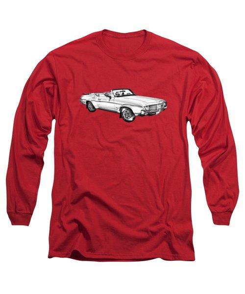 Oldsmobile Cutlass Supreme Muscle Car Illustration Long Sleeve T-Shirt by Keith Webber Jr