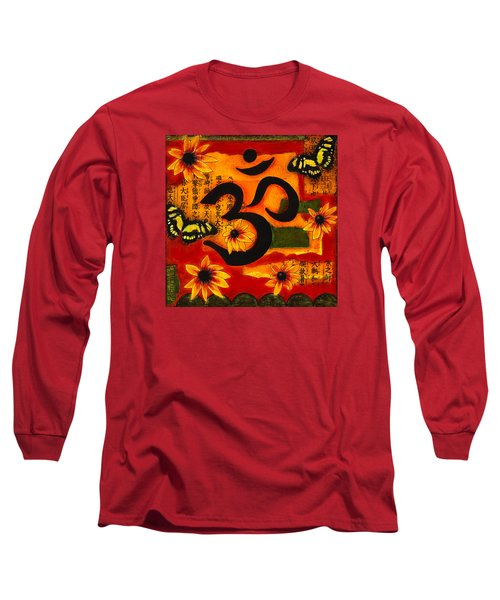 Long Sleeve T-Shirt featuring the mixed media Om by Gloria Rothrock
