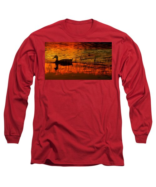 On Golden Pond Long Sleeve T-Shirt by David Lee Thompson