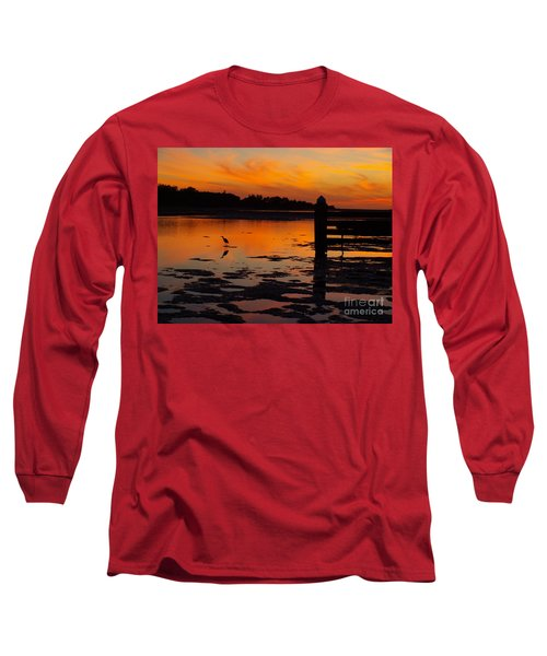 Long Sleeve T-Shirt featuring the photograph One Bird by Trena Mara
