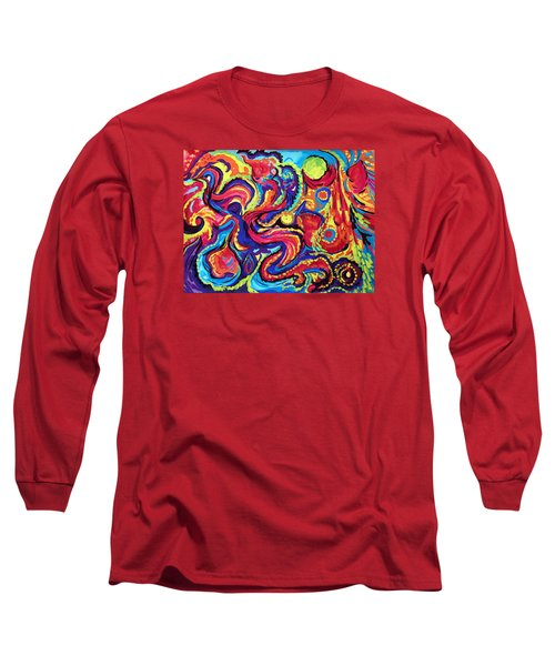 Long Sleeve T-Shirt featuring the painting Birth by Marina Petro