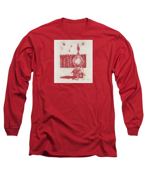 Long Sleeve T-Shirt featuring the mixed media Onion Dome by Alla Parsons