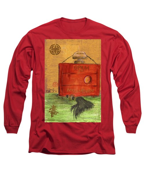 Long Sleeve T-Shirt featuring the painting Opium by P J Lewis