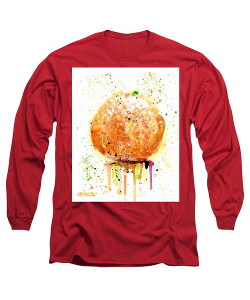Orange 2 Long Sleeve T-Shirt by Arleana Holtzmann