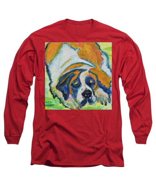 Orange Bernard Long Sleeve T-Shirt