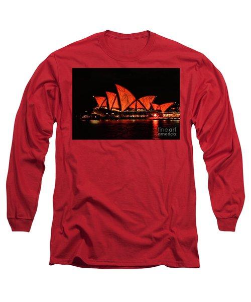 Orange Blast Long Sleeve T-Shirt by Diana Mary Sharpton