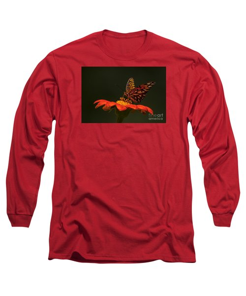 Orange Bliss Long Sleeve T-Shirt by Barbara Bowen