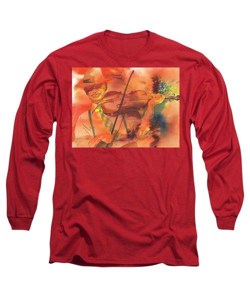 Orange Blossom Special Long Sleeve T-Shirt by Tara Moorman