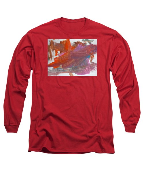 Orange By Emma Long Sleeve T-Shirt by Fred Wilson